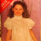 See & Sew 5418 children's dress pattern with ribbon trim