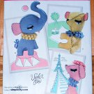 Simplicity 2202 pattern for stuffed animals elephant, bear, and poodle from Violet Pie
