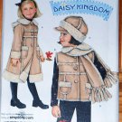 Simplicity 2778 pattern Daisy Kingdom childrens' shearling coat or vest with hat sizes 3-8