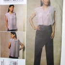 Vogue 1142 Issey Miyake v1142 pattern for asymmetric pleated top and pants size 14-20
