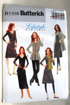 Butterick B5398 5398 wardrobe pattern sizes extra small to medium. Casual business style.