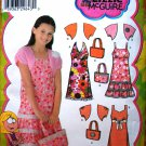 Simplicity 4255 Lizzie McGuire pattern for dresses, shrug, and a bag size 8-16 cut.