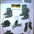 Butterick 5233 pattern for historical footwear, shoes, boots, moccasins, one size