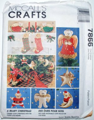 McCall's Crafts 7866 pattern called A Beary Christmas
