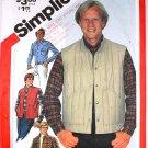 Vintage 1981 Simplicity 5350 pattern mens' western cowboy shirt, quilted vest size 40