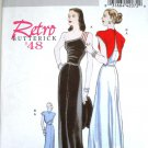 Butterick 5136 or b5136 pattern Retro '48 gown and capelet, silver screen Hollywood size 6-12