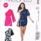 McCall's M6240 or 6240 one shoulder Miami Beach or summer clubbing dress pattern size 4-12