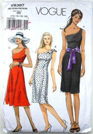 Vogue V8387 one shoulder dresses size 12-18