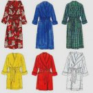 Simplicity 7417 pattern for 6 easy bath robes, some with hoods, size L and XL