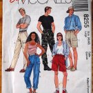McCall's 8255 pattern for men's and women's pull on cargo pants and shorts