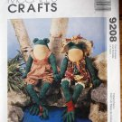 McCall's 9208 craft pattern for two 16 inch frog dolls with clothes