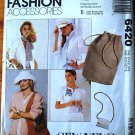 McCall's 6420 fashion accessories pattern ties, scarves, purse, beret, engineer's cap