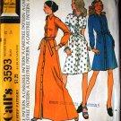 Vintage McCall's 3593 pattern, Halston original size 12  shirt dresses, 1973