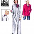 Simplicity 2482 Patty Reed Designs zip up lounge robe or jacket pattern xs-m