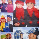 Butterick 5787 pattern family fleece hats, scarves, mittens
