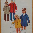 Simplicity 9903 vintage 1972 children's coat pattern size 4, chest 23 inches,