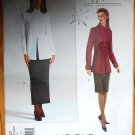 Vogue 2457 Claude Montana easy tailored outfit, top and skirt pattern