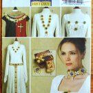 Butterick 5508 or B5508 pattern for Medieval and Renaissance historical costume jewelry