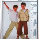Burda 9834 boys' pattern for cargo pants and sweatshirt or hoodie style tops size 8-12