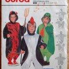Burda 3048 pattern kids' costumes penguin, frog, devil sizes 18 months to 6