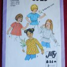 Simplicity 8325 pattern for children's blouses size 5 and 6