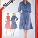 Vintage 1981 Simplicity 5242 pattern for 1980s pullover shirt dresses, size 18 and 20