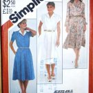 Vintage 1982 Simplicity 5449 pattern pullover dress, size 20