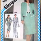 Vintage 1983 Simplicity 5878 Adolfo pattern jacket, camisole, and skirts, size 18 and 20