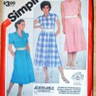 Vintage 1983 Simplicity 5978 pattern for misses' pullover dresses size 18 and 20