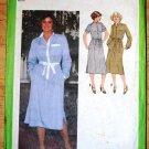 Vintage 1979 Simplicity 9017 pattern for 1970s shirt dress, tie belt. 1980s, size 10