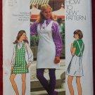 Simplicity 5425 vintage 1972 pattern for mini halter jumper, blouse and necktie