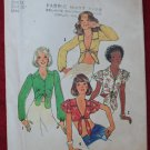 Simplicity 6901 vintage 1975 pattern tie front blouses in different lengths, Daisy Duke types