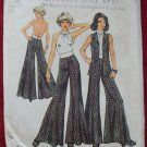 Simplicity 5611 vintage 1973 pattern halter top, vest, swing pants. Disco dance Latin ballroom