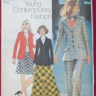 Simplicity 5212 vintage 1972 pattern for blazer pants and skirts, Saint Laurent style