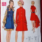 Butterick 5582 vintage 1960s dress and coat dress pattern Bust 38 inches