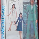 McCall's 4965 vintage 1976 pattern Marlo's Corner jacket, skirt and pants, bust 34 inches