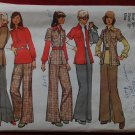 Simplicity 5797 vintage 1973 pattern for jacket, shirt and pants, bust 38 inches. Cut