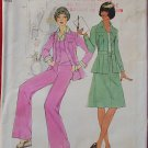 Simplicity 7393 vintage 1976 pattern for jacket, skirt, pants bust 36 inches
