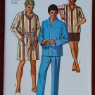 Simplicity 8369 men's vintage 1969 pattern for pajamas, robe, loungewear medium 38-40