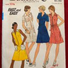 Butterick 3559 vintage circa 1970 pattern for A line dresses with pockets in front