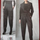 Vogue v1201 1201 Donna Karan pattern for wide lapel jacket and pleated pants size 6-12