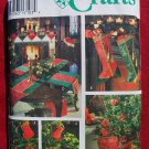 Simplicity 9748 Christmas crafts by Donna Lang, treeskirt, stocking, mantlescarf
