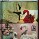 Simplicity 7927 Kalico Kastle craft pattern for decorative stuffed swans birds animals