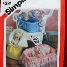 Simplicity 6056 craft pattern for carriers for dolls up to 18""