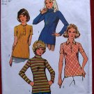 Simplicity 5185 vintage 1972 pattern for knit tops size 14 or chest 36 inches