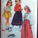 Simplicity 9091 vintage 1970 pattern for girls' Bohemian jiffy skirts size 12 waist 25.5 inches