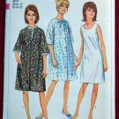 Simplicity 6851 vintage 1966 pattern for housecoats or robe and slip