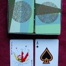 Mayan calendar Brown & Bigelow double deck playing Cards green, Mid Century Mod