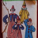 Simplicity 9051 vintage 1970 pattern for clown costumes, includes vest, ruffle neck, hats, bowtie