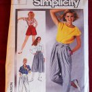 Simplicity 7459 vintage 1986 pattern culottes, 1940s shorts, Miyake-esque or Hammertime pants